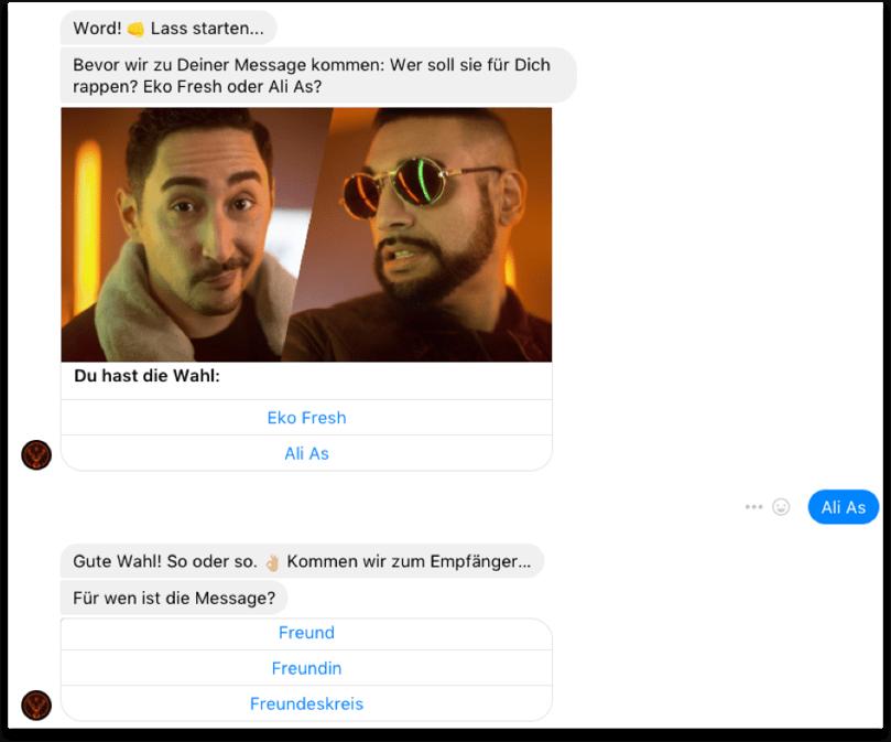 """Auszug aus einem Chatverlauf mit dem """"Jämbot"""""""
