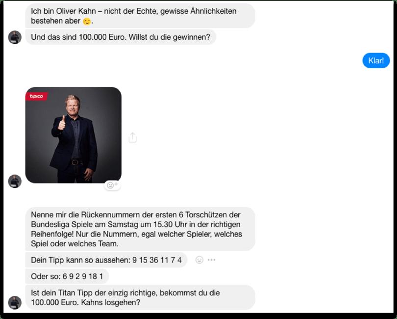 """Auszug aus einem Chatverlauf mit dem """"Titan-Tipp"""""""