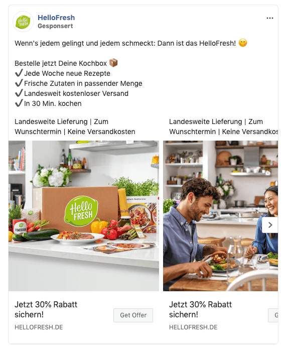 facebook-ads-beispiel-hello-fresh-carousel