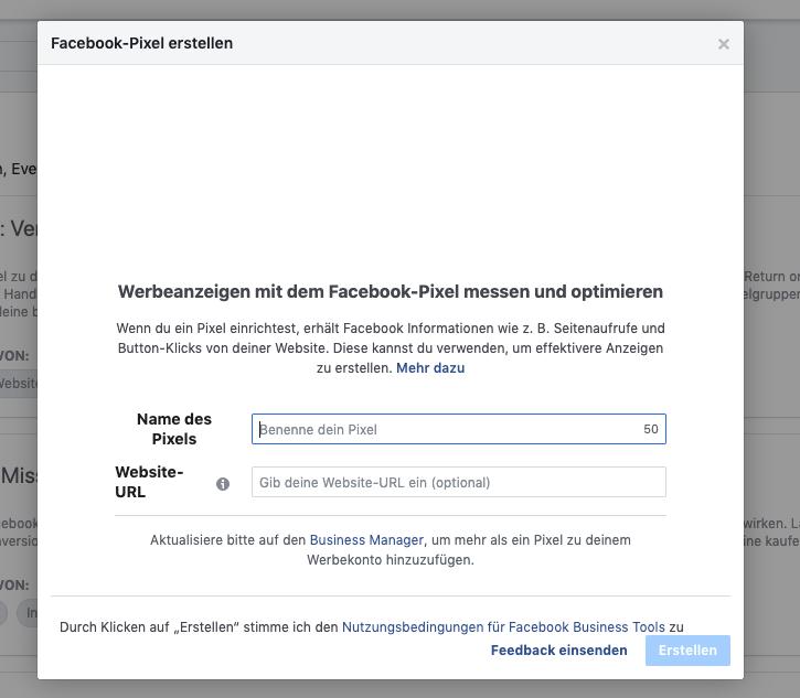 facebook-pixel-erstellen