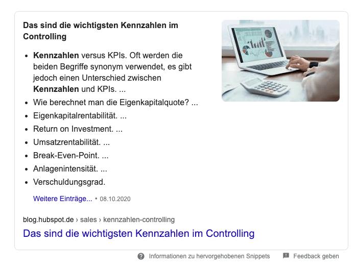 featured-snippet-beispiel-liste-kennzahlen-im-controlling