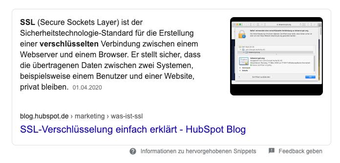 featured-snippets-beispiel-ssl-verschluesselung-SERP