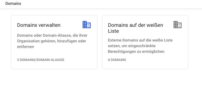 g suite leitfaden domains