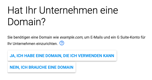 g suite leitfaden domain name