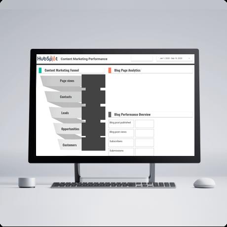 Hubspot-Content-marketing-dashboard