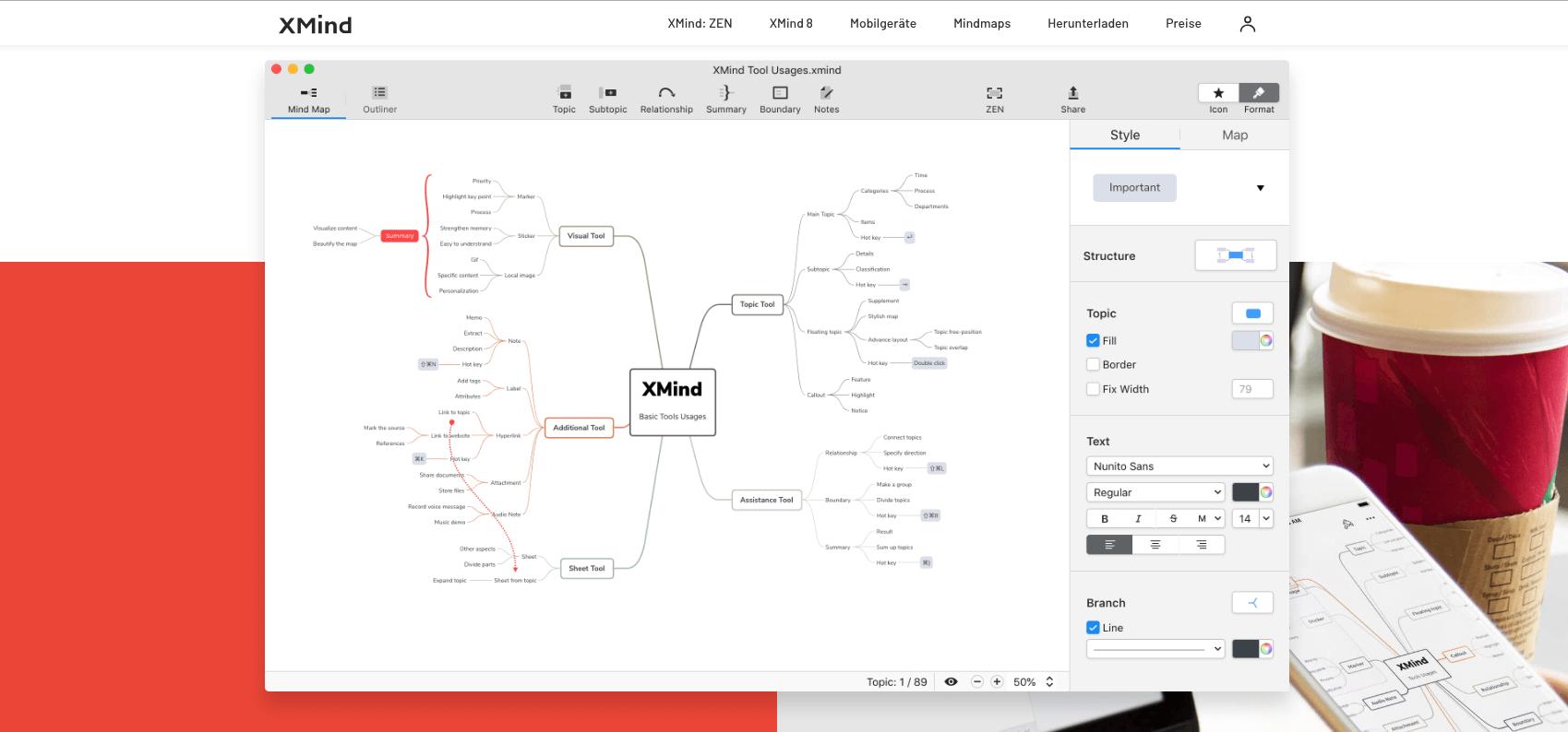 Brainstorming-mit-XMind