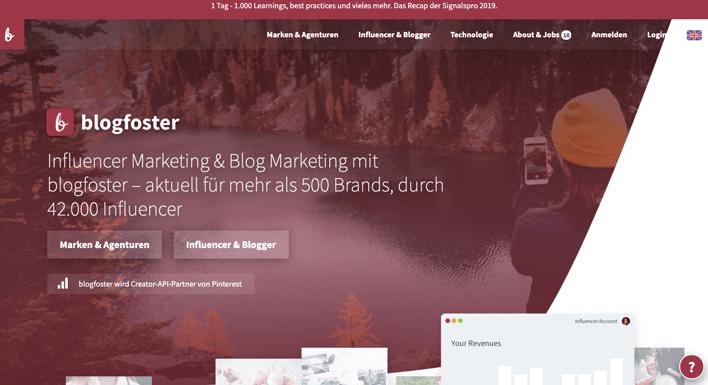 influencer-marketing-plattform-blogfoster