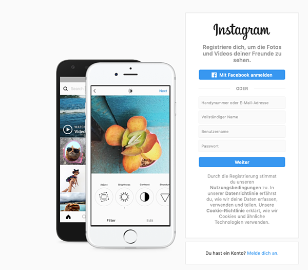 instagram account am computer erstellen