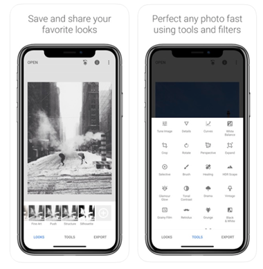 instagram tools snapseed übersicht