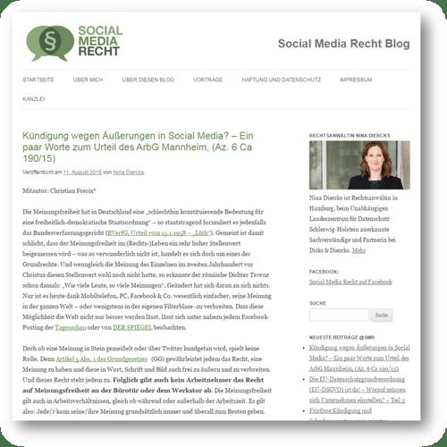 socialmediarecht