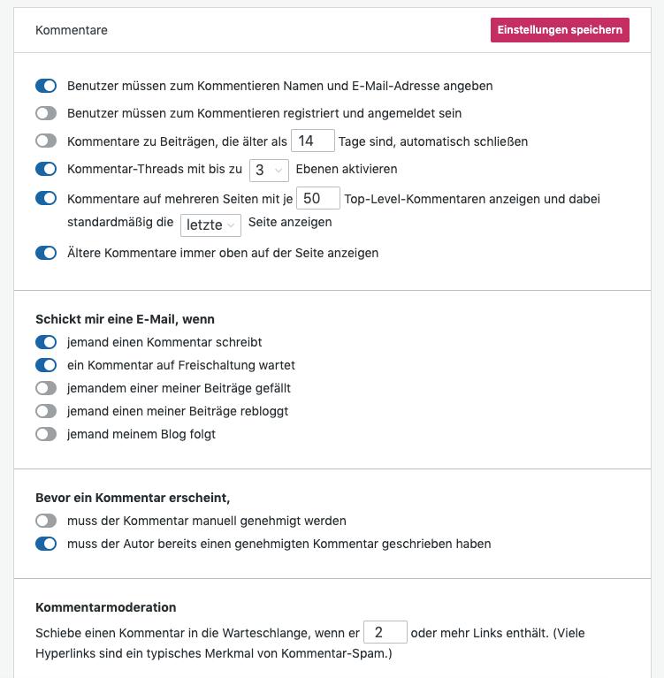 wordpress-weitere-einstellungen-für-kommentare
