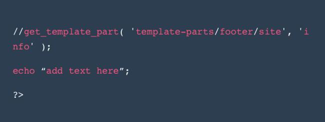 Footer in WordPress bearbeiten php-code ersetzen