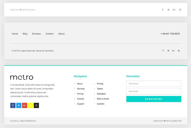 Footer in WordPress bearbeiten elementor footer