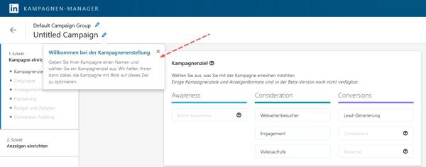 HubSpot-LinkedIn-Anzeigen-03-Kampagnenziel