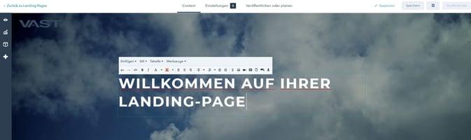 HubSpot Landing-Page Bannertext