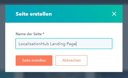 HubSpot Landing-Page Seitenname