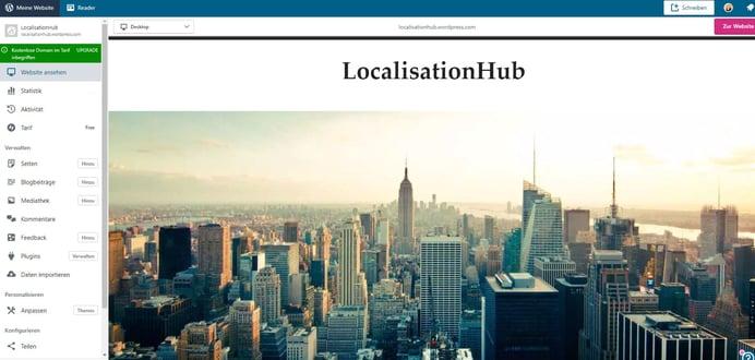 HubSpot Wordpress Website erstellt