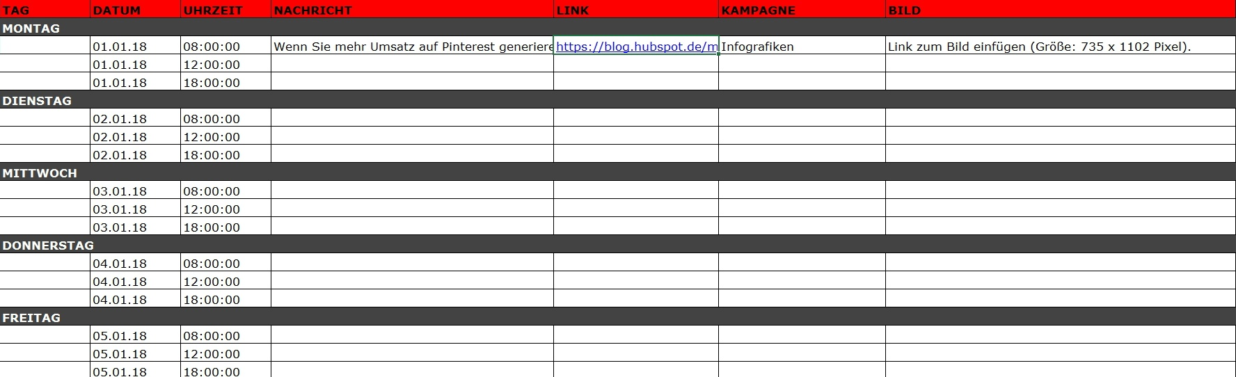 Pinterest-Updates im Social-Media-Kalender planen