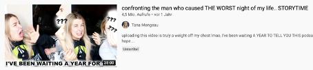 "Thumbnail eines Videos vom Kanal des Creators ""Tana Mongeau"""
