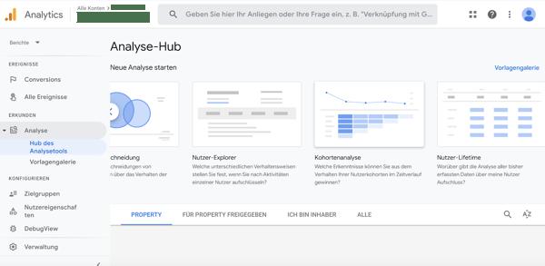 Kohortenanalyse in Google Analytics