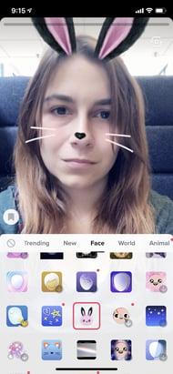 filter und sticker bei tiktok