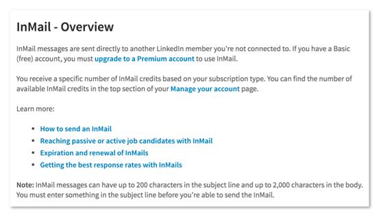 LinkedIn Nachrichten außerhalb Netzwerk verschicken
