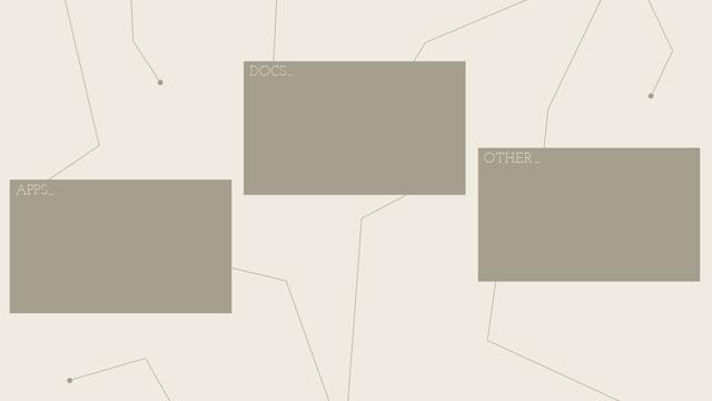 Hintergrundbild für einen besser strukturierten Desktop - Beispiel 2