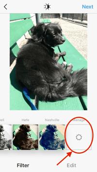 HubSpot-Bildschirm zur Verwaltung von Instagram-Filtern