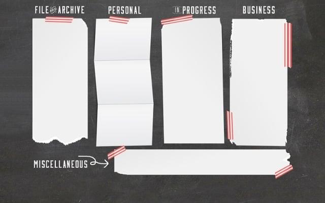Hintergrundbild für einen besser strukturierten Desktop - Beispiel 3