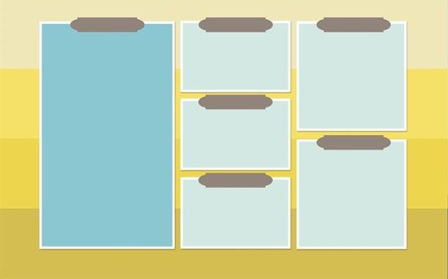 Hintergrundbild für einen besser strukturierten Desktop - Beispiel 1