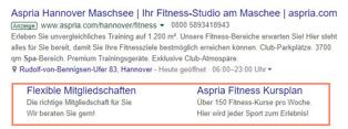 Sitelink erweiterungen in Google Ads