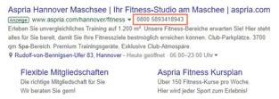 anruferweiterung in google ads zeigt die telefonnumer direkt an