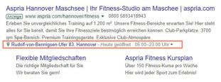 standorterweiterung in google ads zeigt die adresse an