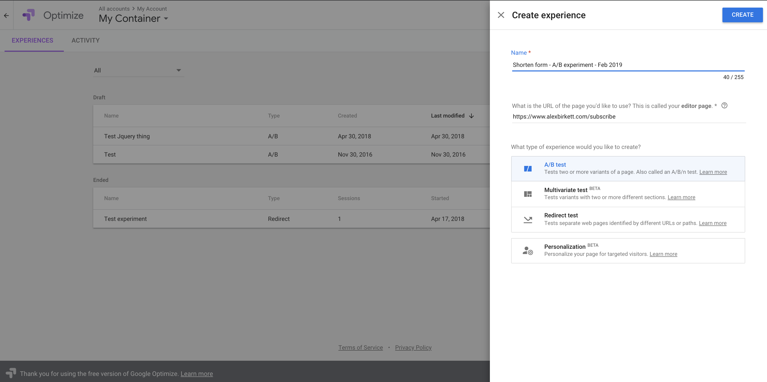 HubSpot-Google-Optimize