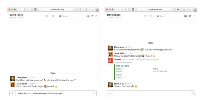 HubSpot - Produktivitäts-Bots für Marketer - Todoist-Bot in Slack