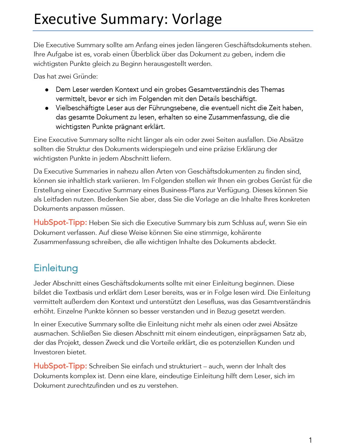 Summary Bzw Zusammenfassung Beispiele 5