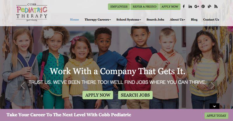 Beispiele von gutem Homepage-Design - Cobb Pediatric Therapy Services
