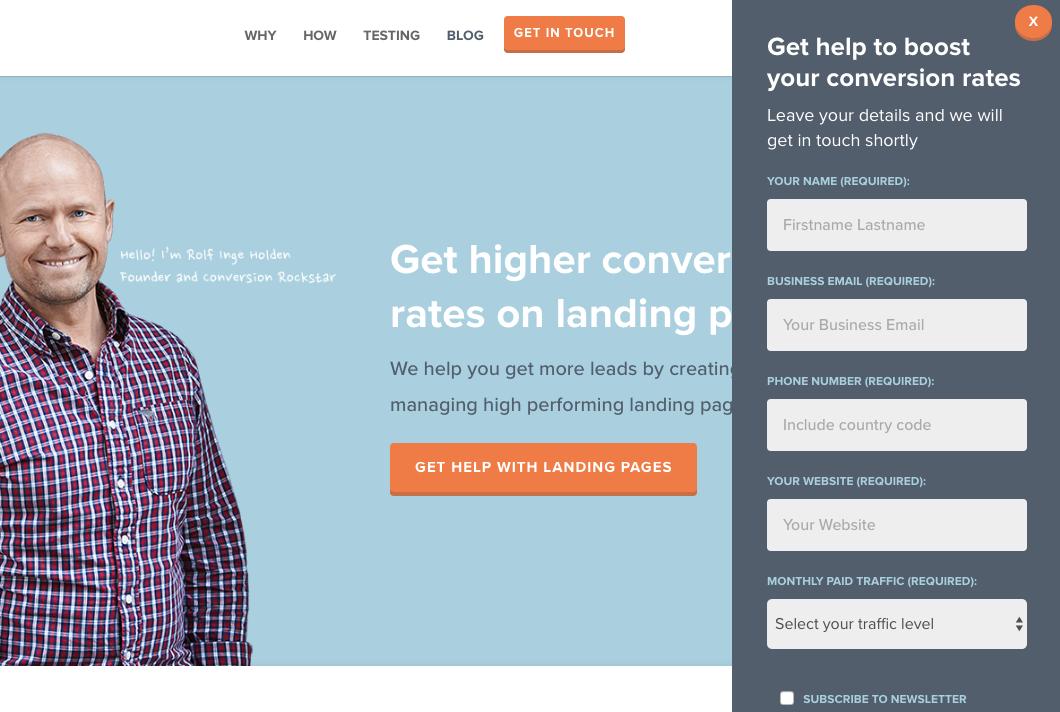 Beispiele für ansprechendes Landing-Page-Design – Conversion Lab 02