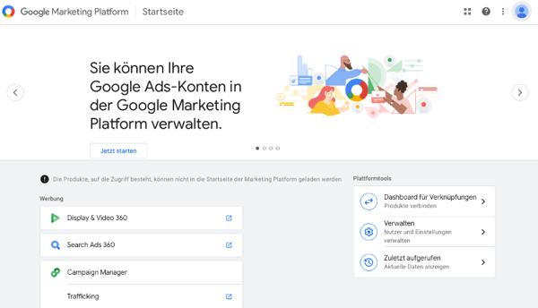 google-marketing-plattform-konto-anlegen