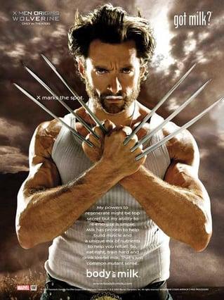 Got Milk Werbekampagne mit Wolverine