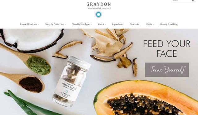 Beispiel eines Online-Shop – Graydon Skincare