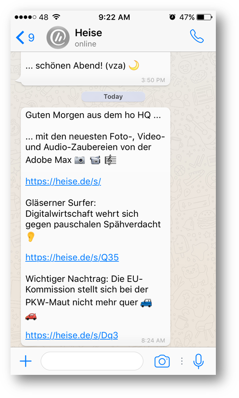 heise WhatsApp