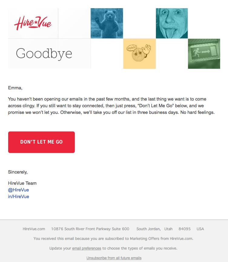 Beispiele herausragender E-Mail-Marketing-Kampagnen – HireVue