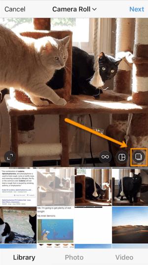 Mehrere Fotos gleichzeitig bei Instagram hochladen