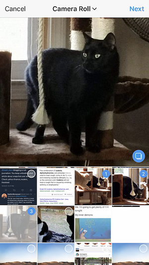 Mehrere Fotos gleichzeitig bei Instagram hochladen - Auswahl
