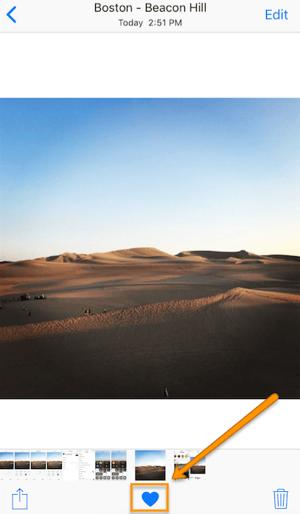 Fotos in Instagram als Favoriten markieren