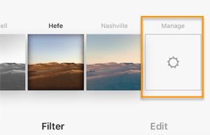 Filter in Instagram verwalten