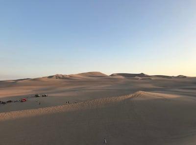 Beispielfoto – Eine Wüstenszene in Peru (unbearbeitet)
