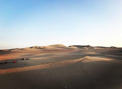 Beispielfoto – Eine Wüstenszene in Peru (bearbeitet)