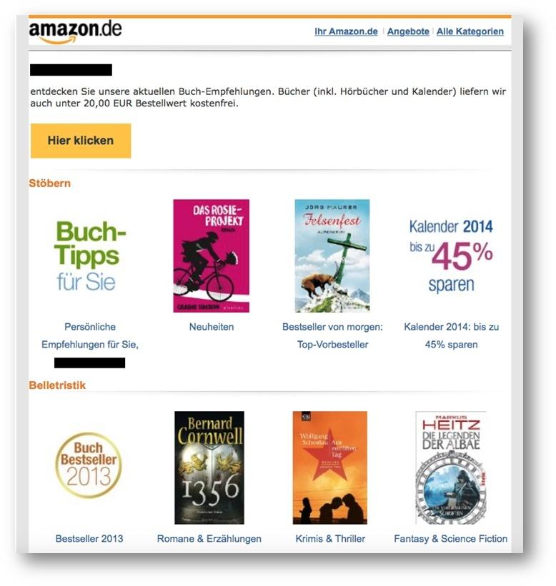 Lead-Nurturing-Beispiele – Amazon